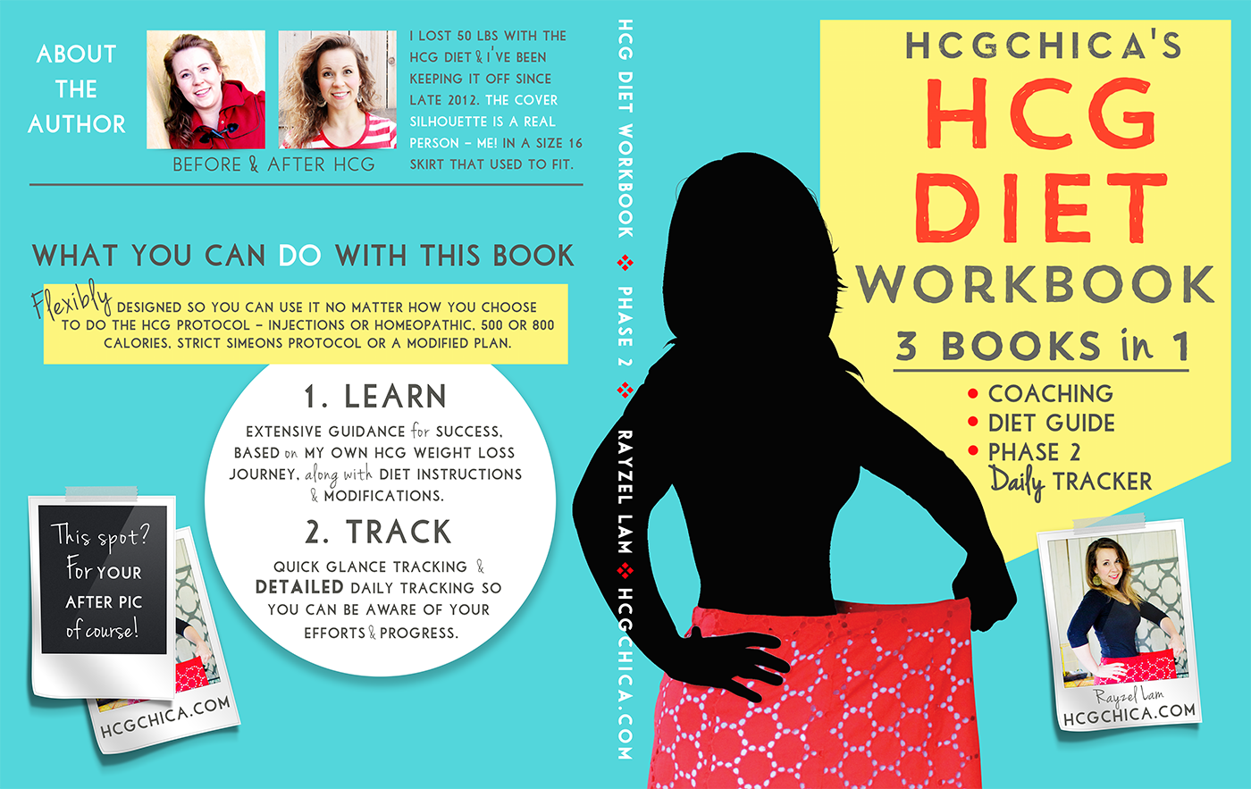 Cover of the Phase 2 hCG Diet Workbook by hcgchica
