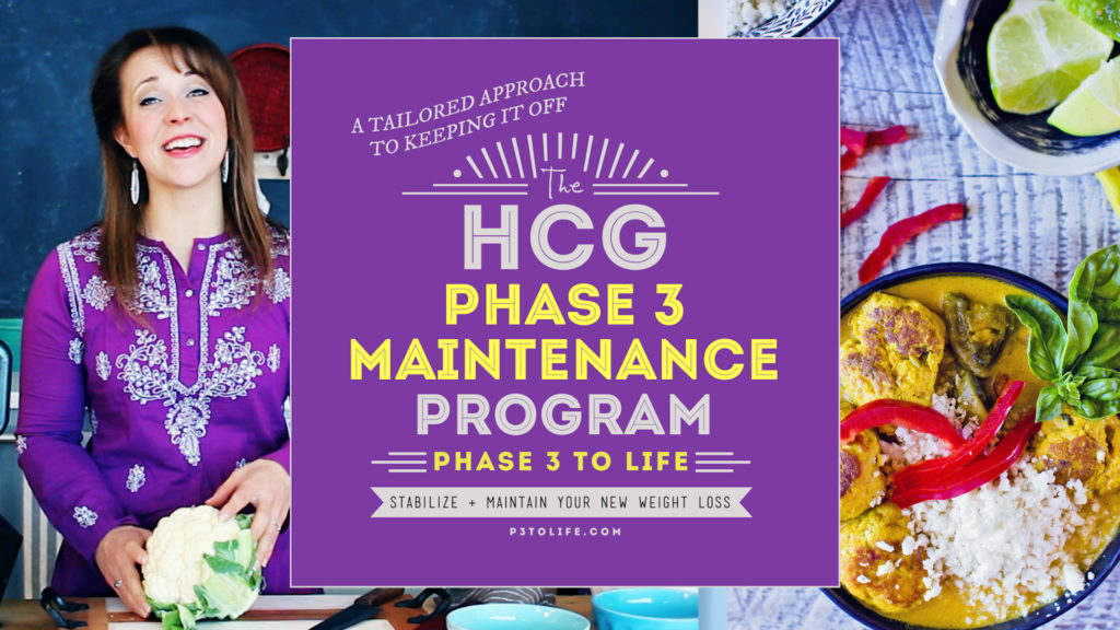 Recipes & Meal Plan for Phase 3 of the hCG Diet Protocol - Stabilization phase